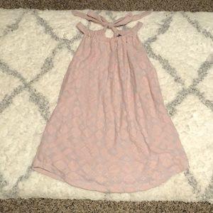 Light pink halter knit top